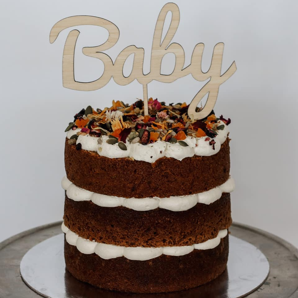 baby shower birthday carrot cake