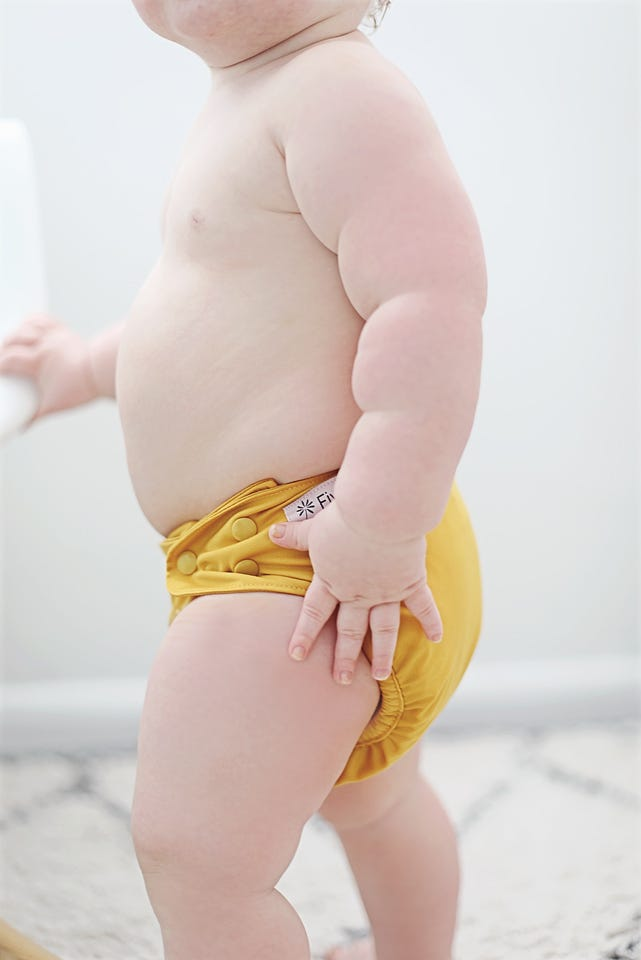 yellow baby cloth nappy
